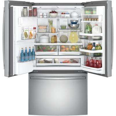 Profile 22.2 cu. ft. French Door Refrigerator with Hands Free Autofill in Stainless Steel, Counter Depth and ENERGY STAR