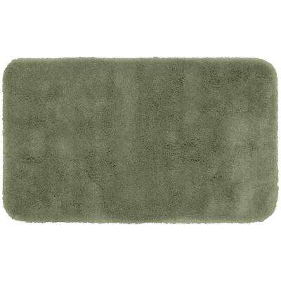 Finest Luxury Deep Fern 30 in. x 50 in. Washable Bathroom Accent Rug