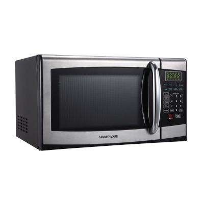 0.9 cu. ft. 900-Watt Countertop Microwave in Stainless Steel/Black