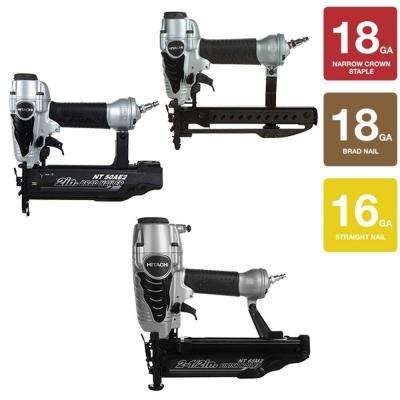 3-Piece 2-1/2 in. Finish Nailer, 2 in. Finish Nailer and 1/4 in. Crown Stapler Kit