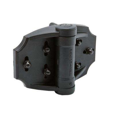 D&D TruClose Pair of Black Heavy-Duty Multi-Adjust Hinge