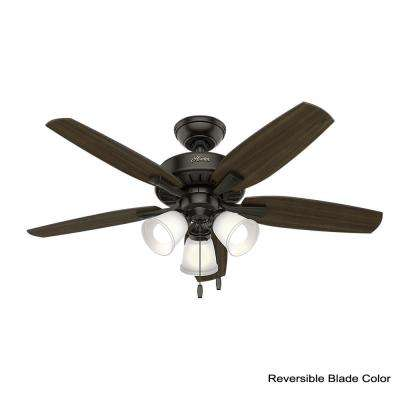 Oakfor 48 in. LED Indoor Noble Bronze Ceiling Fan with Light bundled with Remote Control