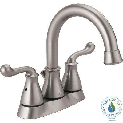 Southlake 4 in. Centerset 2-Handle Bathroom Faucet in Brushed Nickel