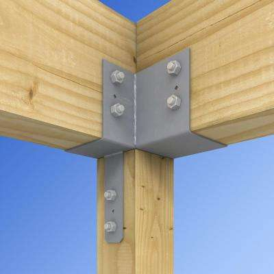 ECCLR L-Shape End Column Cap for 6x Post, 6x Beams, Skewed Right
