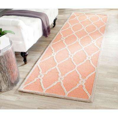 Cambridge Coral/Ivory 3 ft. x 8 ft. Runner Rug