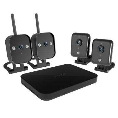 4-Channel 720p 1TB Surveillance NVR System with 2 Indoor and 2 Outdoor Wi-Fi Cameras