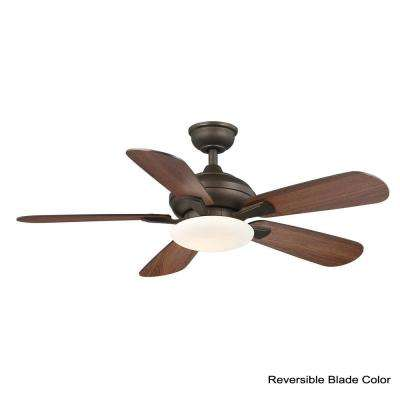 Benson 44 in. LED Espresso Bronze Ceiling Fan with Light and Remote Control