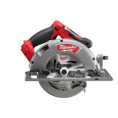 M18 FUEL 18-Volt Brushless Lithium-Ion 7-1/4 in. Cordless Circular Saw (Bare Tool)