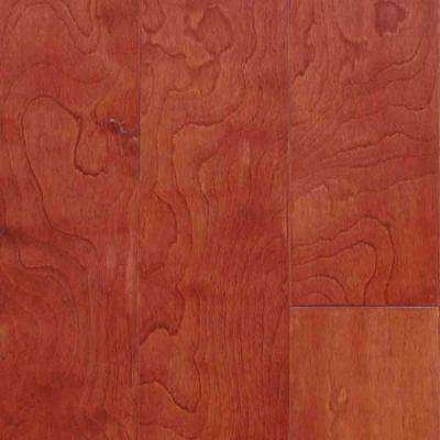 Birch Bordeaux 3/8 in. Thick x 4-1/4 in. Wide x Random Length Engineered Click Hardwood Flooring (20 sq. ft. / case)