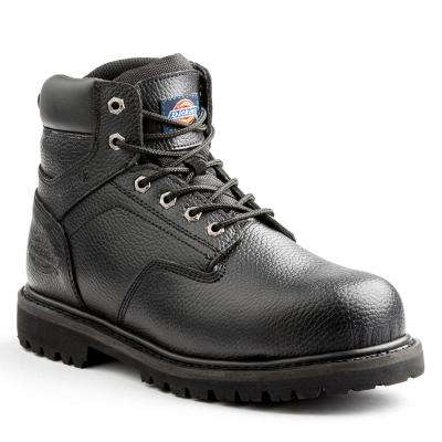 Prowler Men Black Leather Work Boot