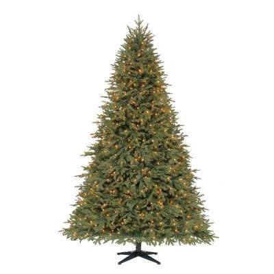 7.5 ft. Pre-Lit LED Stamford Fir PE Artificial Christmas Quick Set Tree x 5193 Tips with 650 Indoor Warm White Lights