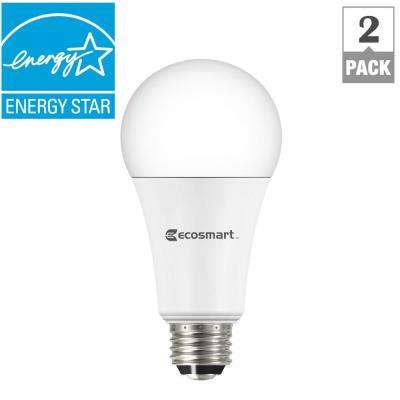 100W Equivalent Daylight A21 3-Way Dimmable LED Light Bulb (2-Pack)