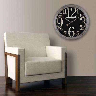 24 in. H Weathered Tilt Wall Clock