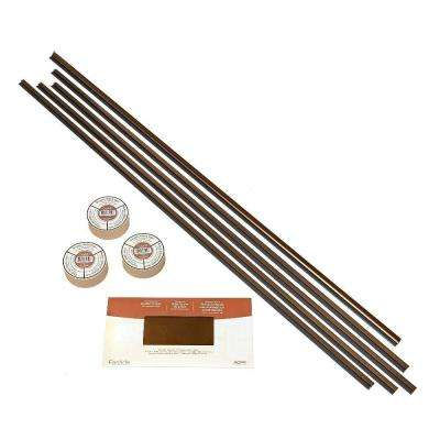 Large Profile Backsplash Accessory Kit with Tape in Oil Rubbed Bronze