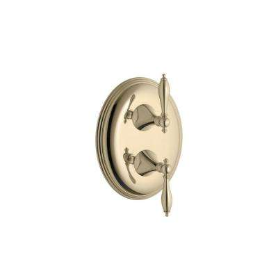 Finial Traditional 2-Handle Valve Trim Kit in Vibrant French Gold (Valve Not Included)