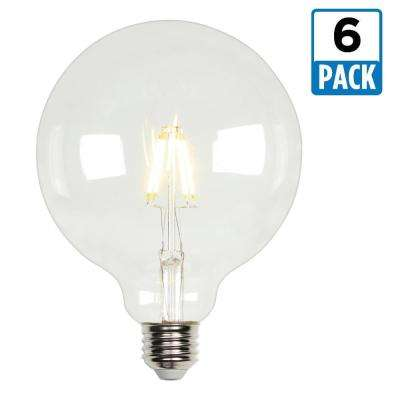 40W Equivalent Soft White G40 Dimmable Filament LED Light Bulb (6-Pack)
