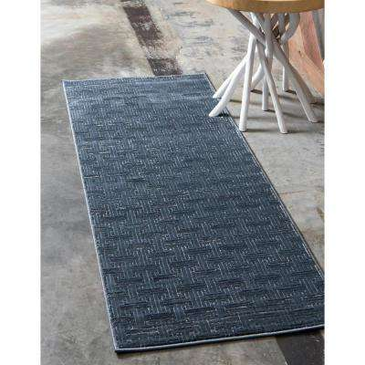 Uptown Collection by Jill Zarin™ Park Avenue Navy Blue 2' 2 x 6' 0 Runner Rug