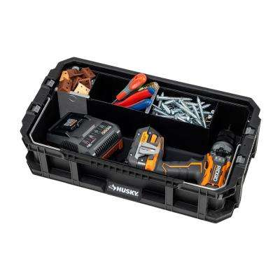 5-Compartment Connect System Tool Caddy Small Parts Organizer in Black
