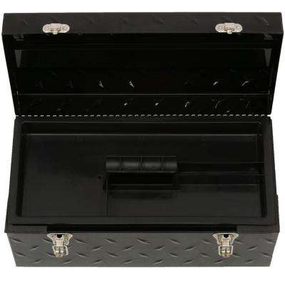 20 in. Tread Plate Metal Mobile Tool Box