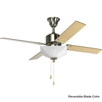 North Park 52 in. Indoor Brushed Nickel Modern Ceiling Fan