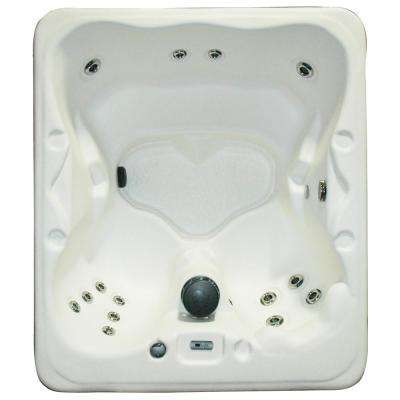 Salina 4 to 5-Person Dura Shell 16 Stainless Steel Jet Plug and Play Spa with 1.5 HP Pump, LED Light and Hard Cover