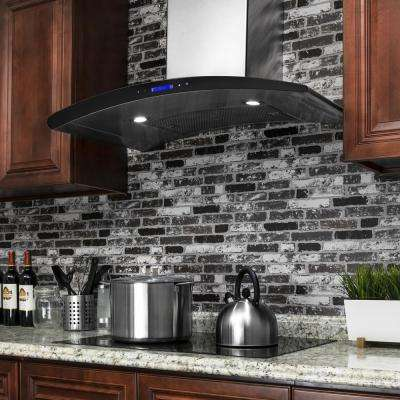 36 in. Convertible Wall Mount Range Hood in Stainless Steel with Touch Control and Carbon Filters