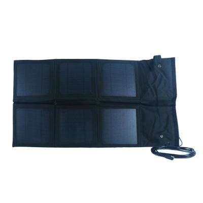 18-Watt Monocrystalline Folding Solar Panel with 8 Amp Charge Controller