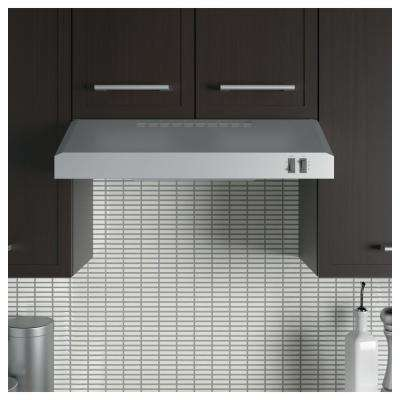 24 in. Over the Range Convertible Range Hood in Stainless Steel