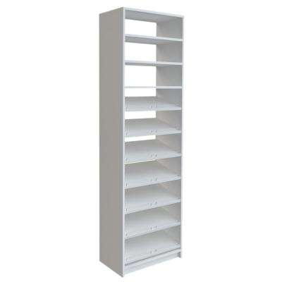 84 in. H x 24 in. W White Shoe Storage Tower Kit