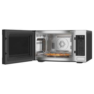 1.5 cu. Ft. Smart Countertop Convection Microwave with Sensor Cooking in Matte White, Fingerprint Resistant
