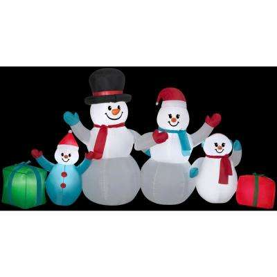 9 ft. W x 4 ft. H Winter Snowman Collection Scene