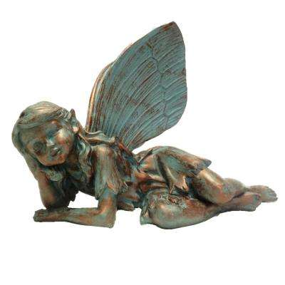 13 in. Fairy Olivia Bronze Patina Collectible Garden Statue