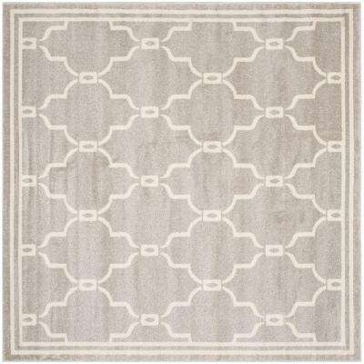 Amherst Light Gray/Ivory 9 ft. x 9 ft. Indoor/Outdoor Square Area Rug