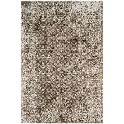 Mirage Ivory/Light Brown 6 ft. x 9 ft. Area Rug