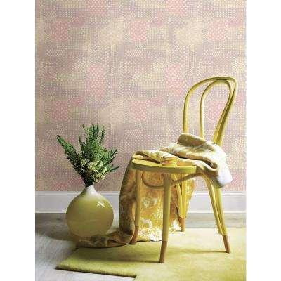 Flower Power Pink Patchwork Wallpaper