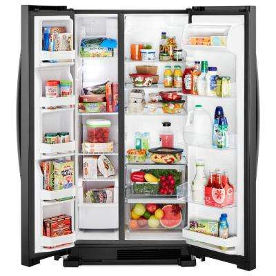 22 cu. ft. Side by Side Refrigerator in Black