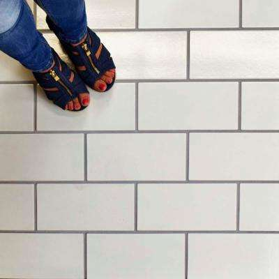 Piscina Brick Blanco Brillo 4-3/4 in. x 9-5/8 in. Porcelain Floor and Wall Tile (11.44 sq. ft. / case)