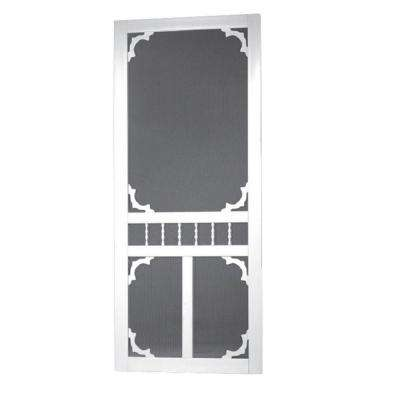 Vinyl White Carolina Screen Door