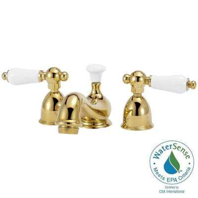 Bradsford 4 in. Minispread 2-Handle Mid-Arc Bathroom Faucet in Polished Brass