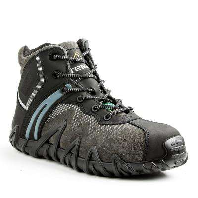 Venom Mid Men's Black Leather and Suede Safety Shoe