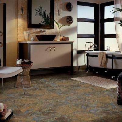 Groutable 18 in. x 18 in. Slate Peel and Stick Vinyl Tile (36 sq. ft. / case)