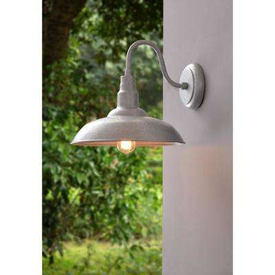 Dale 1-Light Galvanized Large Indoor/Outdoor Wall Mount Lantern