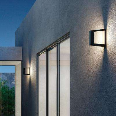 1-Light Graphite Grey Finish Outdoor Integrated LED Wall Mount Sconce