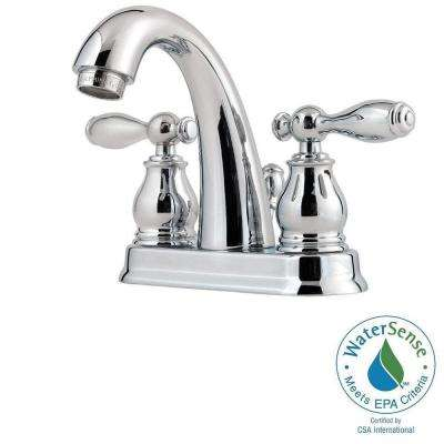 Unison 4 in. Centerset 2-Handle High-Arc Bathroom Faucet in Polished Chrome