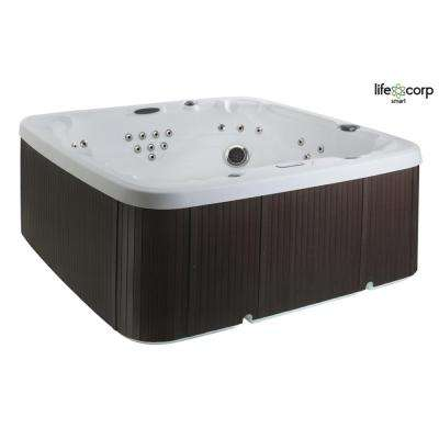 Coronado DLX 7-Person 220-Volt Spa with 65-Jet Includes Free Energy Saving Super Value Package