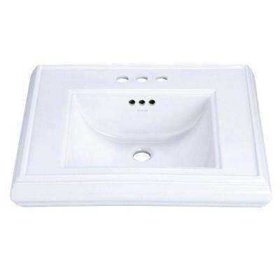 Memoirs 5-3/8 in. Ceramic Pedestal Sink Basin Only in White with Overflow Drain