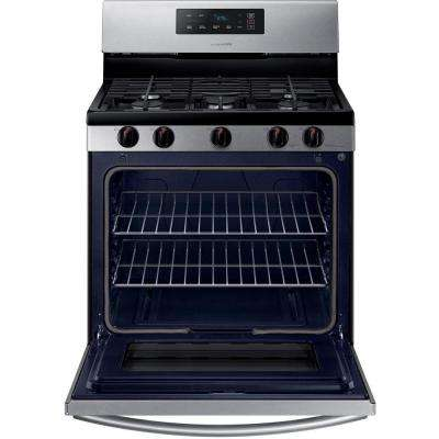 30 in. 5.8 cu. ft. Single Oven Gas Range in Stainless Steel