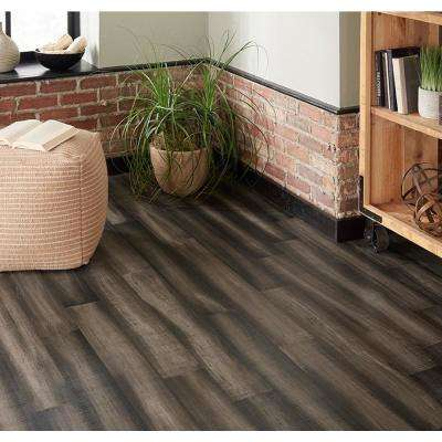 Take Home Sample - Dovetail Gray Engineered Rigid Core Bamboo Flooring - 5.12 in. Wide x 6 in. Length