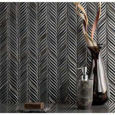 Oracle Alula Gunmetal 10-1/4 in. x 11-7/8 in. x 10mm Glazed Ceramic Mosaic Tile