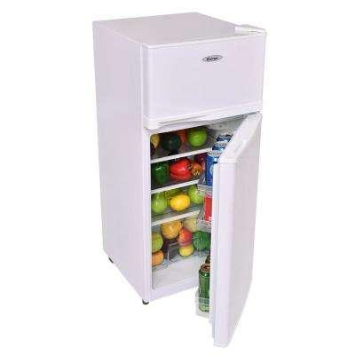 3.4 cu. ft. Unit Compact Mini Fridge Freezer Cooler 2 Doors White